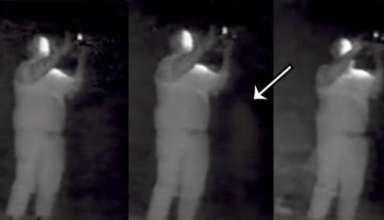 Призрак попал в объектив камеры