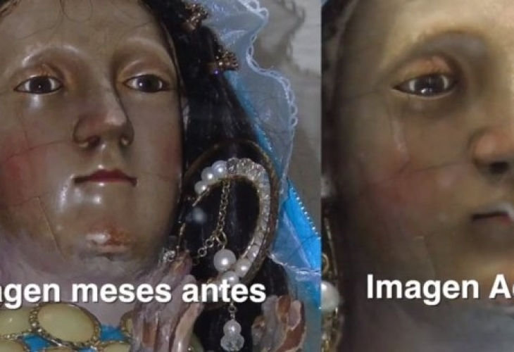 В Мексике статуя Девы Марии заплакала