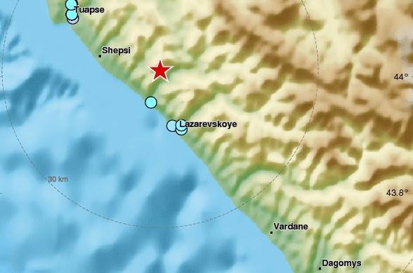 Землетрясение в Сочи 28 сентября 2017 года
