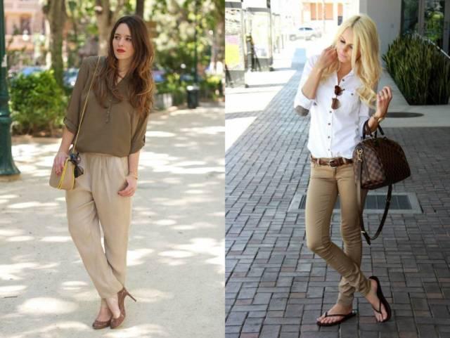 Как и с чем носят брюки женские