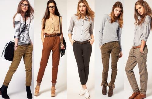 С чем носят брюки женские