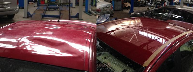Покраска крыши автомобиля